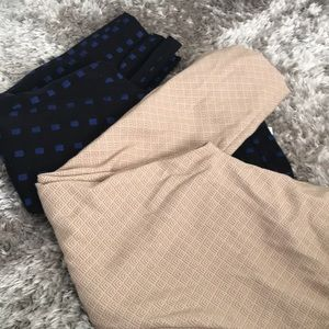 Two pairs of Sloan cropped dress pants